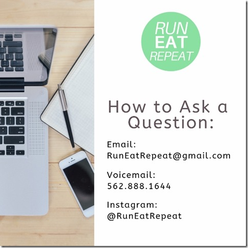 Run Eat Repeat Podcast questions email voicemail (640x640)