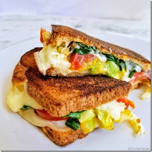 grilled cheese w broccoli